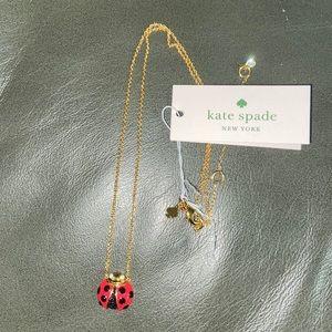 Kate spade ladybug necklace